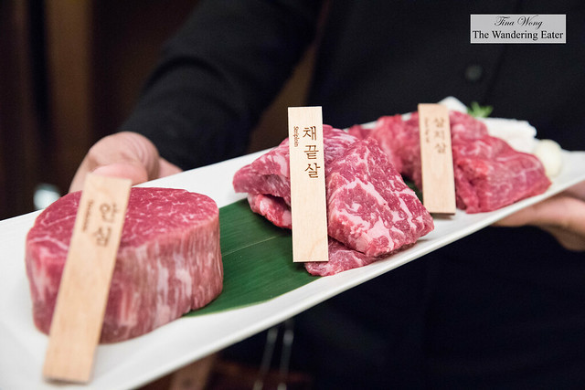 Presenting our trio of Wagyu beef cuts - tenderloin, strip loin, chuck flap
