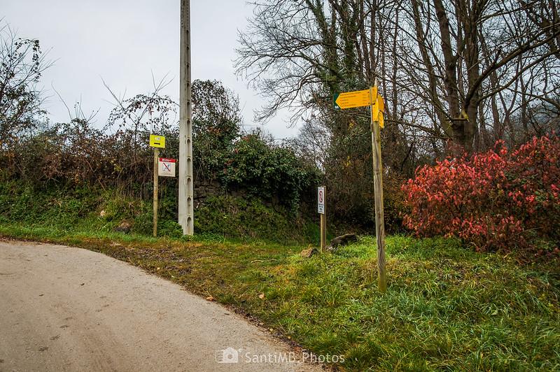 Cruce con el camino de Fontfreda