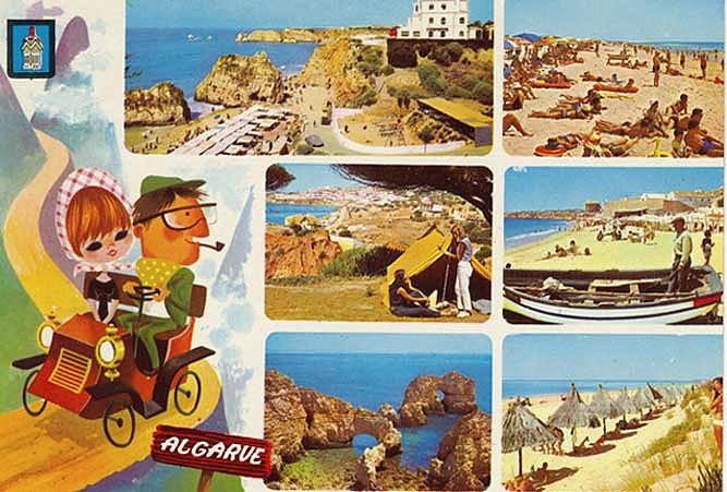 Algarve. Postal ilustrado n/id.
