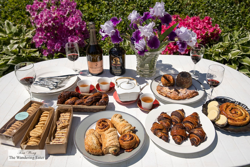 Afternoon tea spread with Michaeli Bakery's baked goods