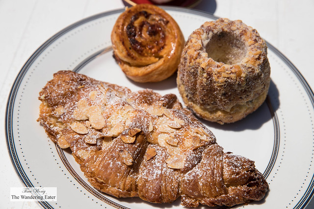 Almond croissant, kugelhopf, pizza bureka