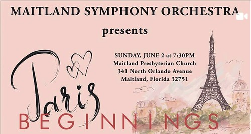 "Maitland Symphony Orchestra to Perform ""Paris Beginnings"""