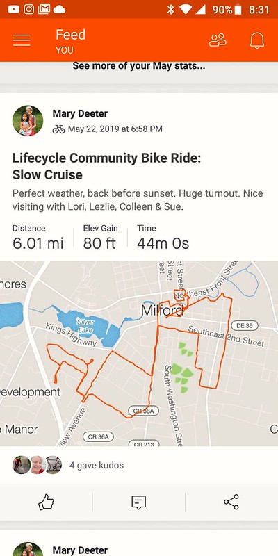 Wednesday night Community ride with Lifecycle