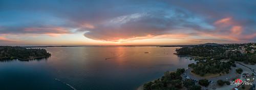 aerialview dji outdoor phantom4pro dam dreyerpicturescom drone folsomdam landscape lowlight sunset water eldoradohills california unitedstatesofamerica