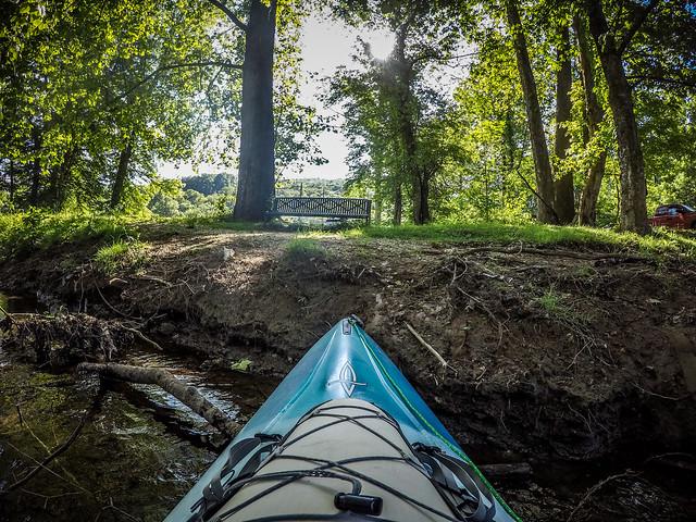 Paddling the North Toe River-1