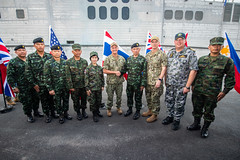 Distinguished guests pose for a group photo following the Pacific Partnership 2019 (PP19) closing ceremony in Thailand. (U.S. Navy/MC2 Nicholas Burgains)