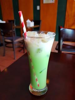 Thai Mylk Green (Cream Soda) at PingAn Veggie Time
