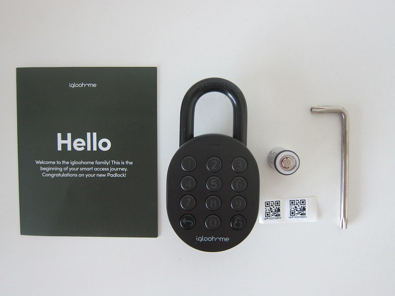 igloohome Smart Padlock - Box Contents