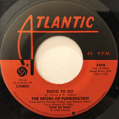 THE BRIDES OF FUNKENSTEIN:DISCO TO GO(LABEL SIDE-A)