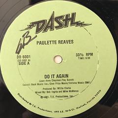PAULETTE REAVES:DO IT AGAIN(LABEL SIDE-A)