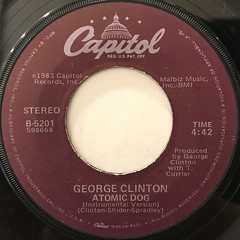 GEROGE CLINTON:ATOMIC DOG(LABEL SIDE-B)