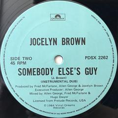 JOCELYN BROWN:SOMEBODY ELSE'S GUY(LABEL SIDE-B)