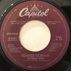 GEROGE CLINTON:ATOMIC DOG(LABEL SIDE-A)