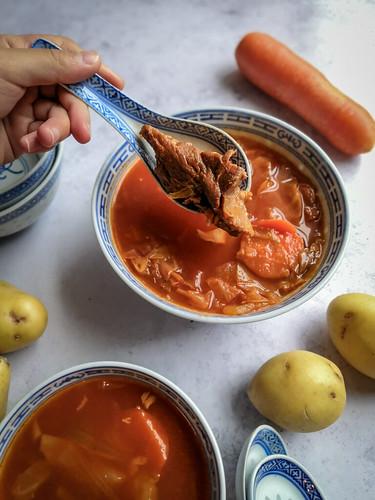 Borscht soup, Hong Kong style