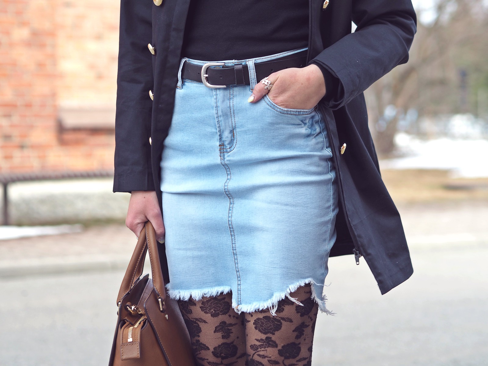 light denim skirt new yorker