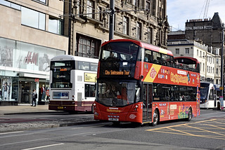 Sightseeing bus. Edinburgh. Scotland
