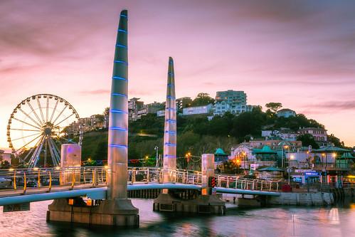 torquay harbour quay bridge sunset devon town city hill landscape landscapes landscapephotography canon england efs1585mmisusm eos eos80d longexposure longexposures longexposurephotography
