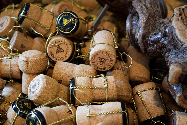 English Sparkling Wine Corks at Camel Valley, Cornwall
