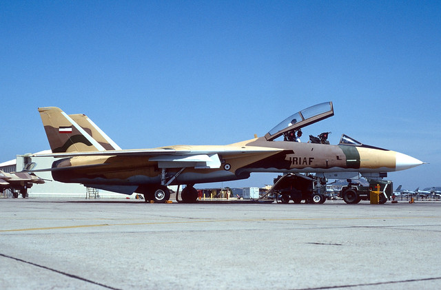159607 - - F-14A USNPac NFWS 920516 Miramar (IRIAF-markings)