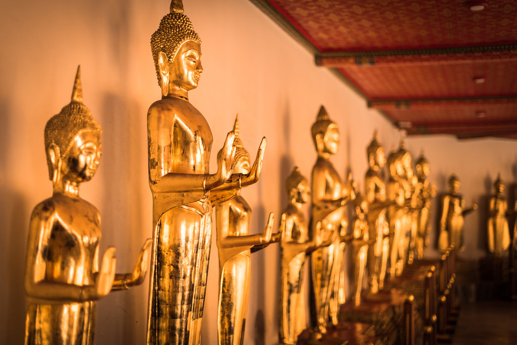 Collection de Buddha au Wat Pho