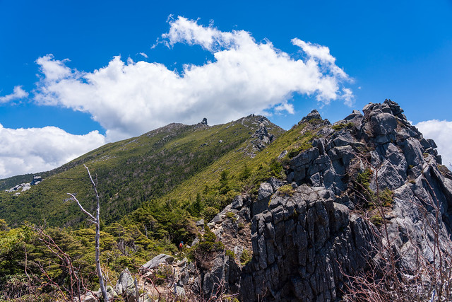 千代ノ吹上より見る金峰山