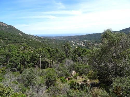 L'arrivée à la piste de Luviu : vue panoramique Pinareddu
