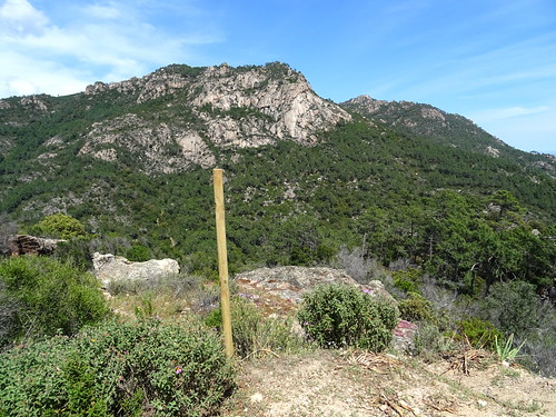 L'arrivée à la piste de Luviu : vue panoramique Punta di Cinaghja
