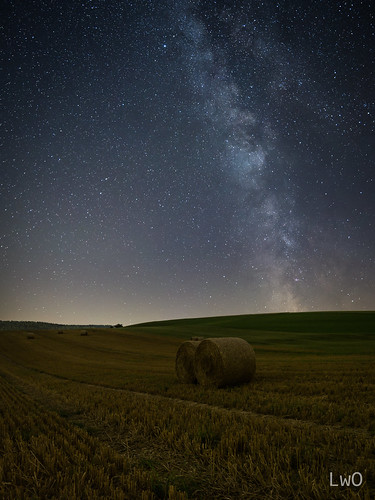 Milky Way over a Stubble Field | by LWOPhotography