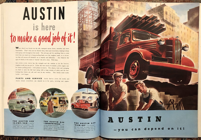 Austin is here to make a good job of it! - advert, 1950