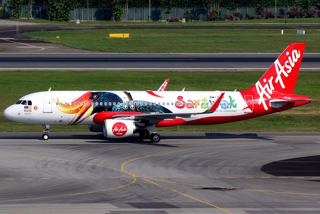 AirAsia   Airbus A320-200   9M-AJD   Sarawak livery   Singapore Changi
