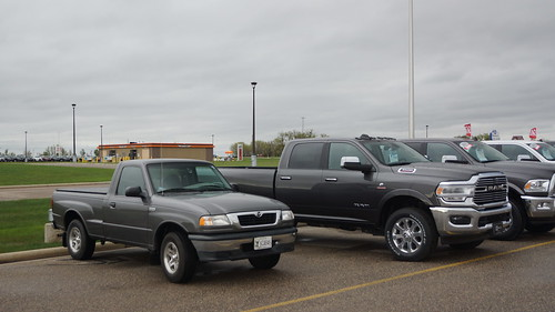 1999 Mazda B2500 SE & 2019 Ram 3500 Laramie Pick-Up Photo