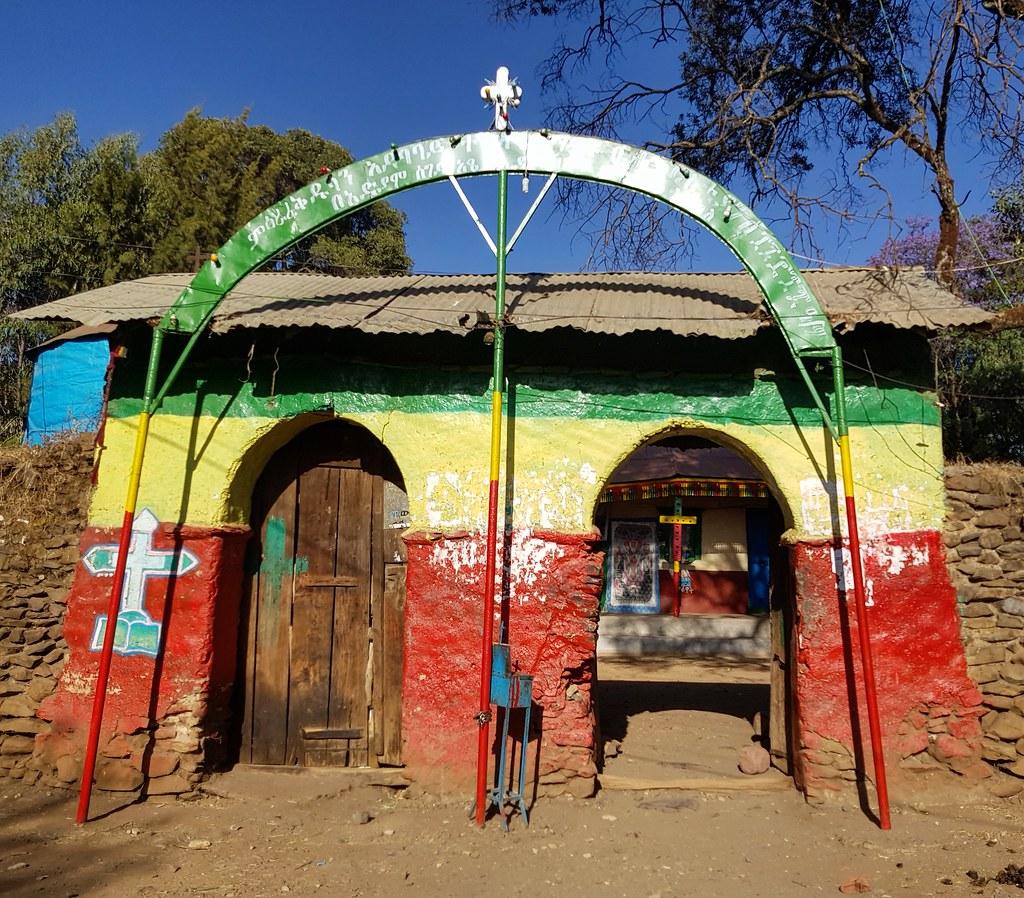 Kolorowe kościoły w Gonder