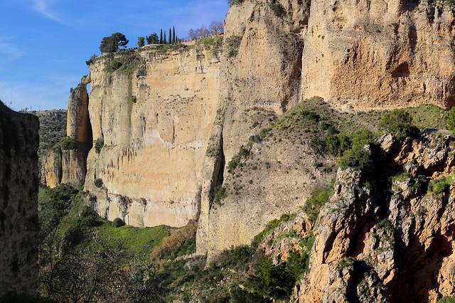 The steep El Tajo gorge in Ronda