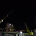 Cranes Working in Shimo-kitazawa at Midnight in 2018 February: 2