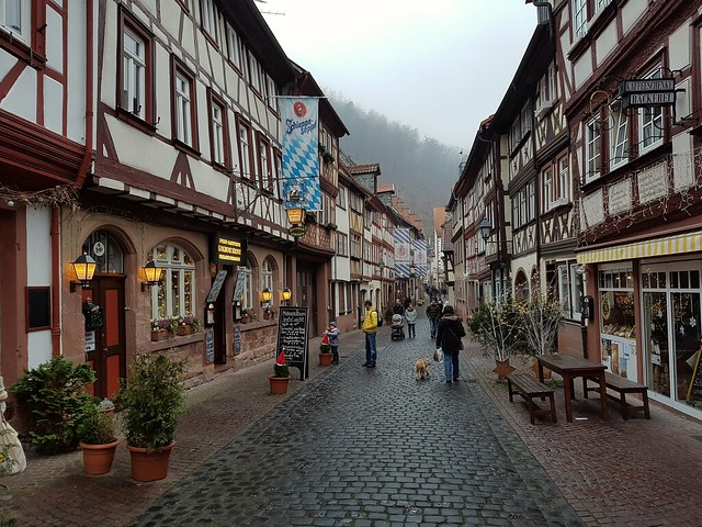 In the streets of old Miltenberg (Lower Franconia)
