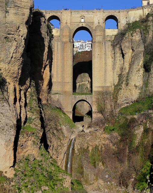 The impressive Puente Nuevo bridge of 120m high