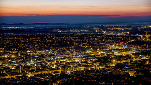 fernsehturm stuttgart night citycentre sunset