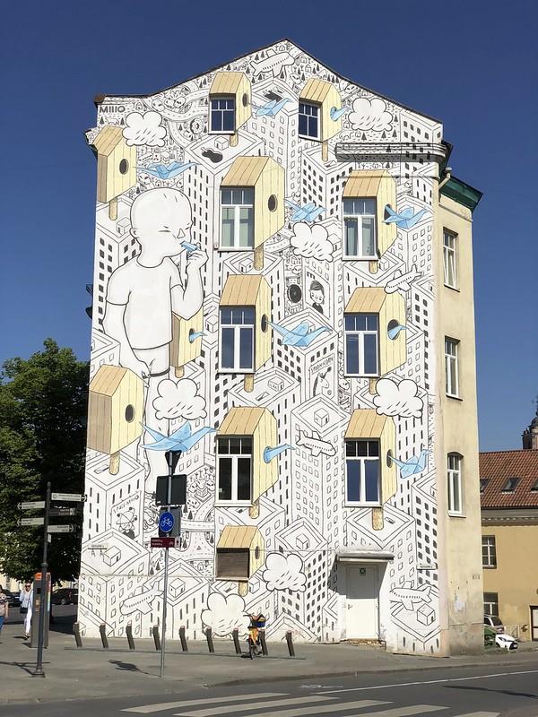 Italialaisen Millon graffitti Vilnassa