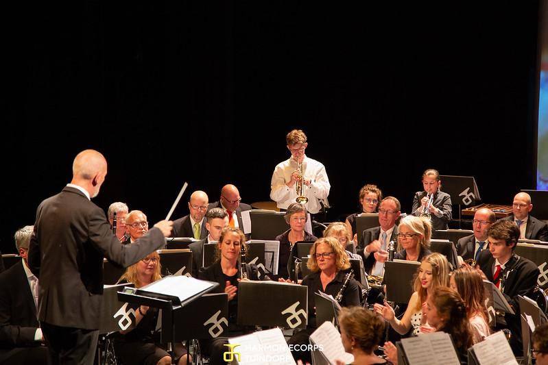 HCT Opleidingsorkest samen met het grote orkest, o.l.v. Ron Overeem