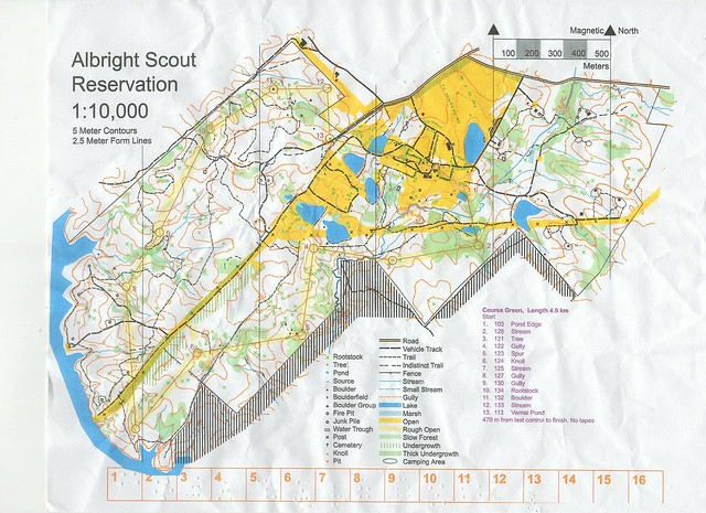 CVOC Orienteering Albrights March 2018