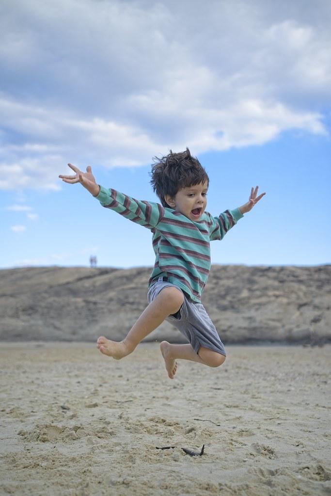 Diego voando alto
