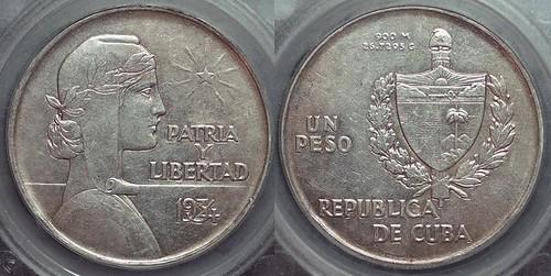 1934 Cuba ABC peso