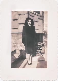 Clara's new coat, Bronx, New York, around 1947
