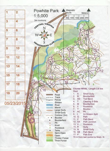 CVOC Powhite White Course Map