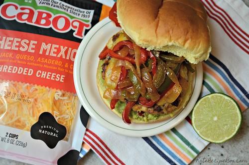 Chicken Fajita Burger 1 | by katesrecipebox