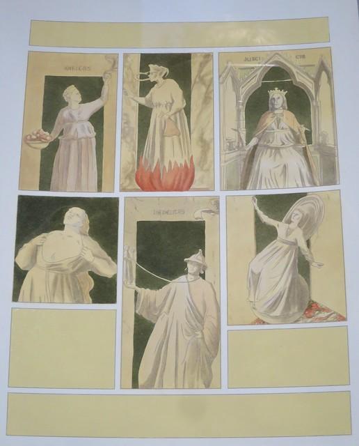 Allégorie de Giotto, illustration de Stéphane Heuet pour