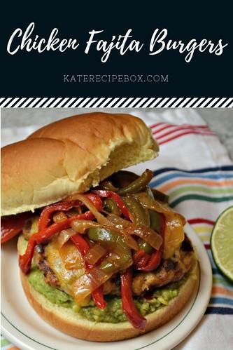 Chicken Fajita Burgers | by katesrecipebox