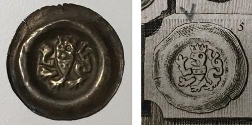 bracteate found in book