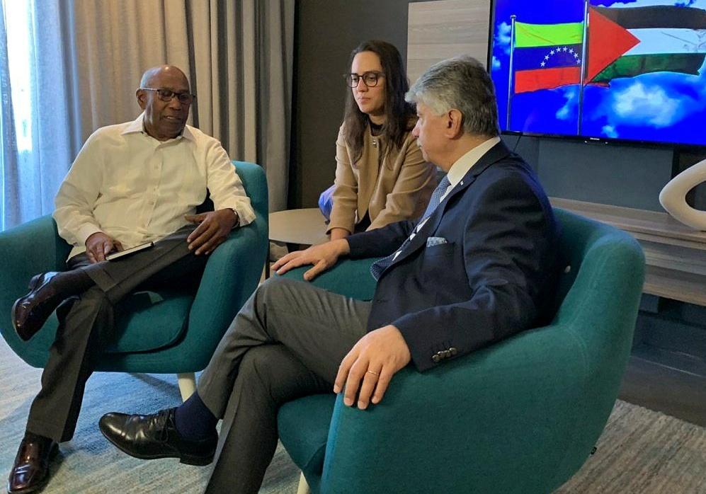 Vicepresidente sectorial Aristóbulo Istúriz sostiene reunión con Ministro de Desarrollo Social de Palestina