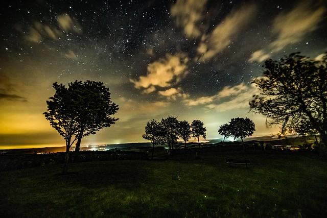 Nachthimmel über der Vulkaneifel bei Steffeln